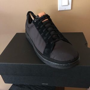 UGG men's Black  polyurethane and suede sneakers